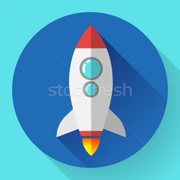 ракета икона запуска проект развития бизнеса Сток-фото © MarySan
