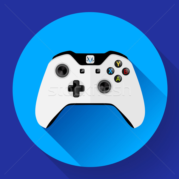 White wireless Game controller with long shadow Stock photo © MarySan