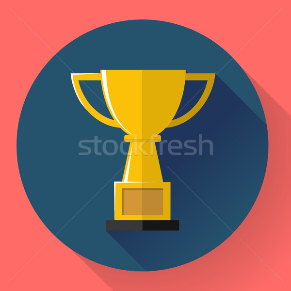 Champions gold cup - victory symbol. Flat style design Stock photo © MarySan