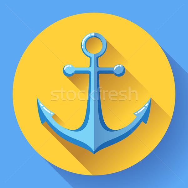 Anchor text icon, vector illustration. Flat design style. Stock photo © MarySan