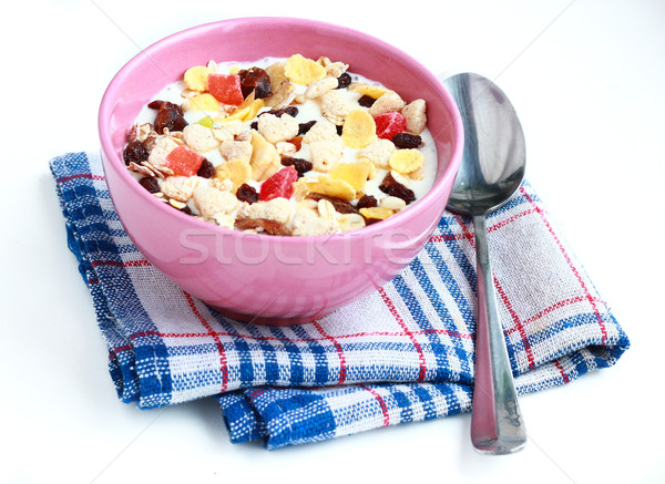 bowl of cereals muesli Stock photo © MarySan