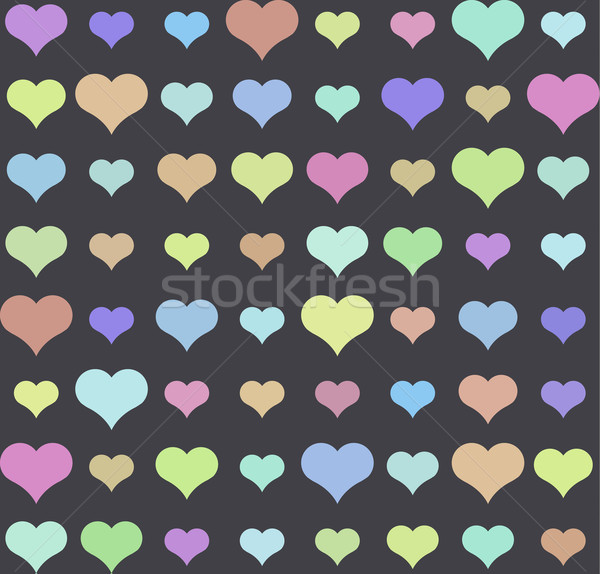 Heart pattern, vector seamless background. Stock photo © MarySan