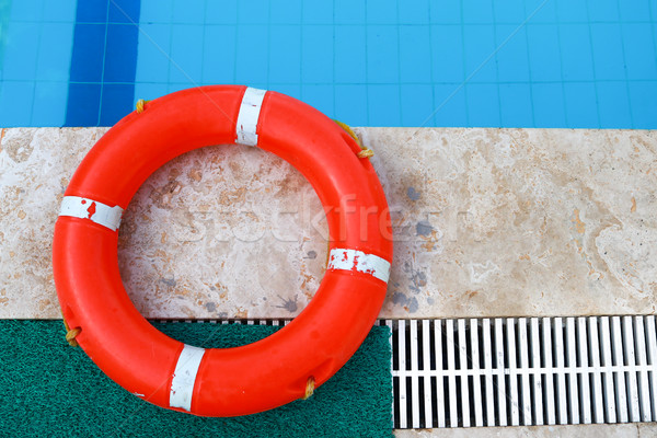 Old lifebelt, Safety equipment, Life buoy or rescue buoy. rescue people from drowning man Stock photo © MarySan