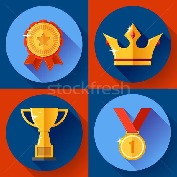 Złoty zwycięstwo symbolika mistrz kubek Zdjęcia stock © MarySan
