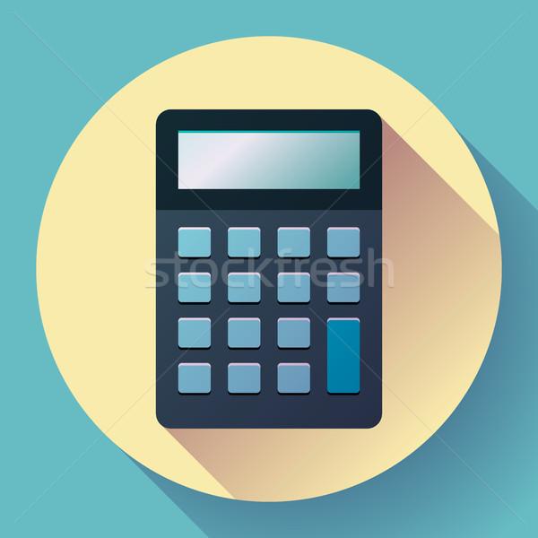 Calculadora ícone estilo isolado vetor eletrônico Foto stock © MarySan