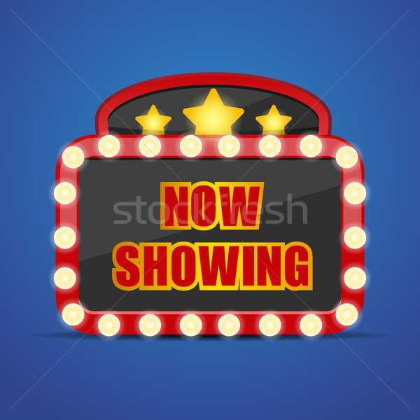 Now showing sign vector illustration Stock photo © MarySan