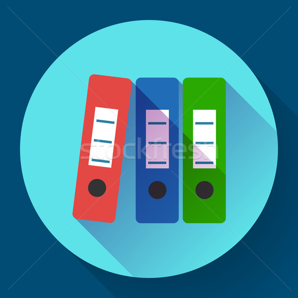Row of binders flat icon Stock photo © MarySan