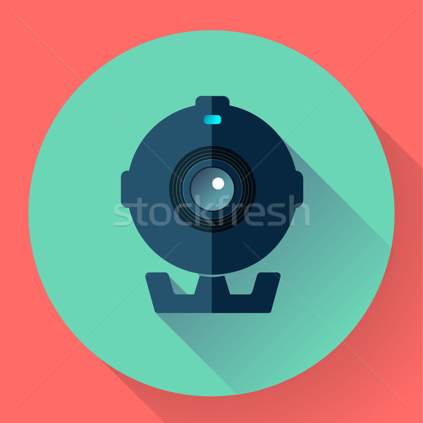 Flat Webcam Icon - Simple vector illustration Stock photo © MarySan
