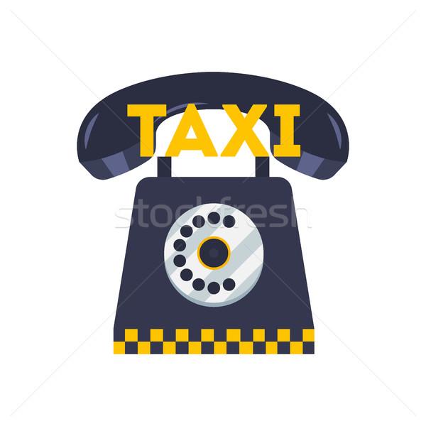 Сток-фото: такси · телефон · икона · иллюстрация · такси