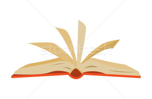 red covered opened book with pages fluttering Stock photo © MarySan