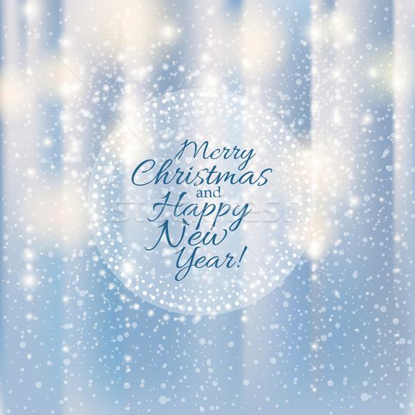 Brilhante prata alegre natal feliz ano novo feliz Foto stock © MarySan