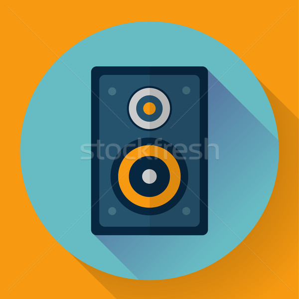 Flat Audio music and media Speaker icon Stock photo © MarySan