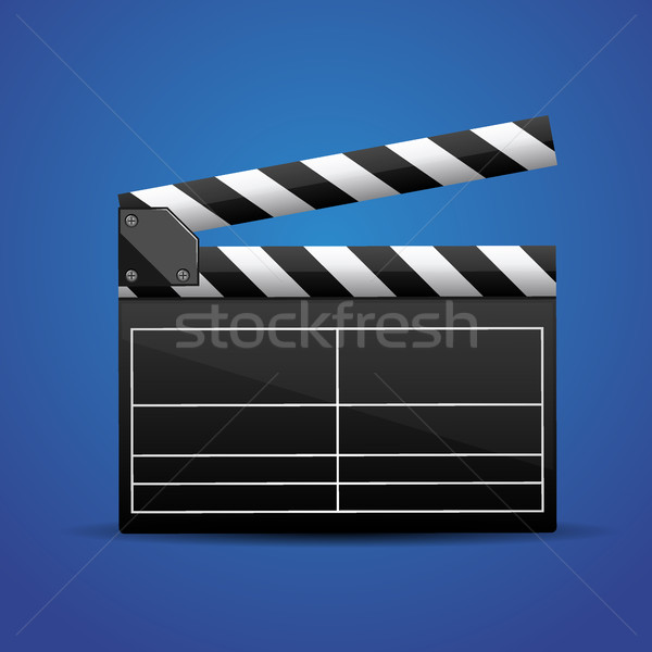 movie clapper board movie maker vector. Stock photo © MarySan