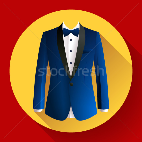 Dark blue man suit Vector icon Stock photo © MarySan