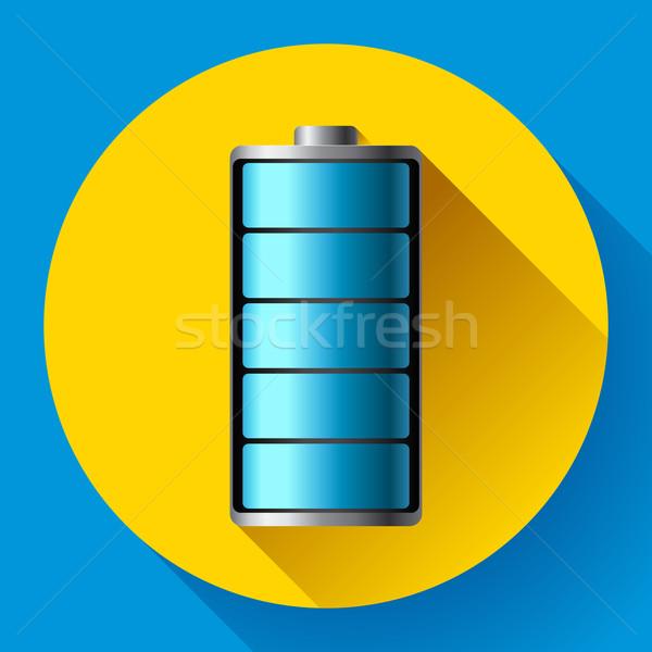 Batteria smartphone blu colori design specchio Foto d'archivio © MarySan