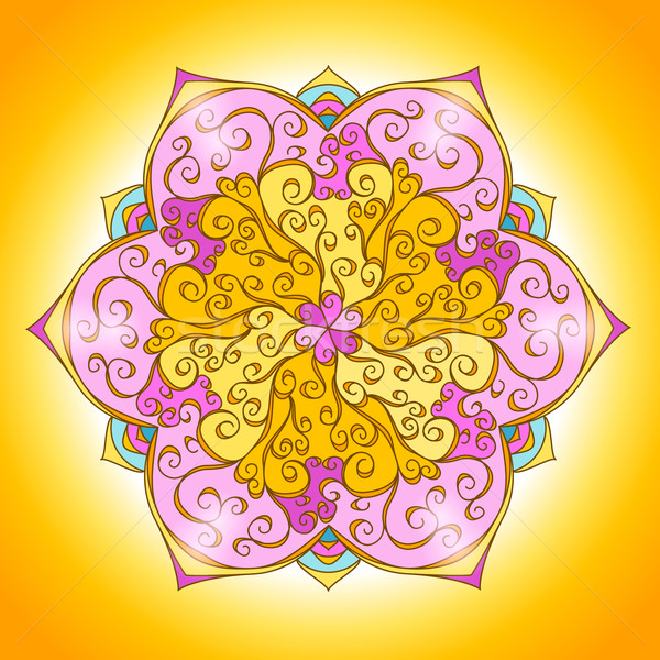 Vintage mandala kaart vector indian Stockfoto © MarySan