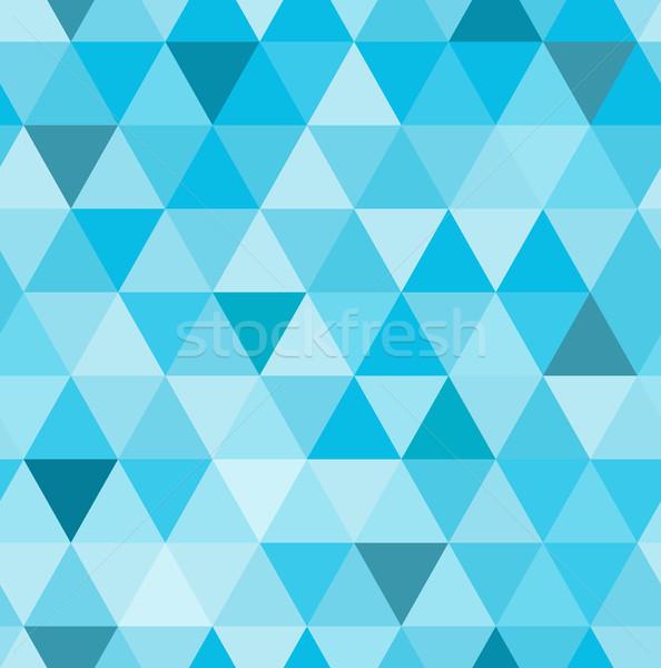 Bezszwowy wzór retro geometryczny niebieski mozaiki Zdjęcia stock © MarySan
