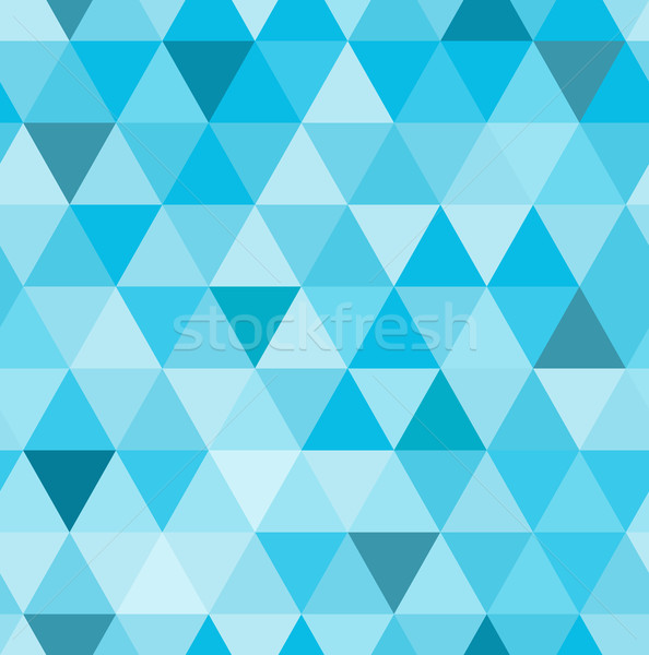 Seamless retro pattern of geometric shapes. Blue mosaic backdrop.  Stock photo © MarySan