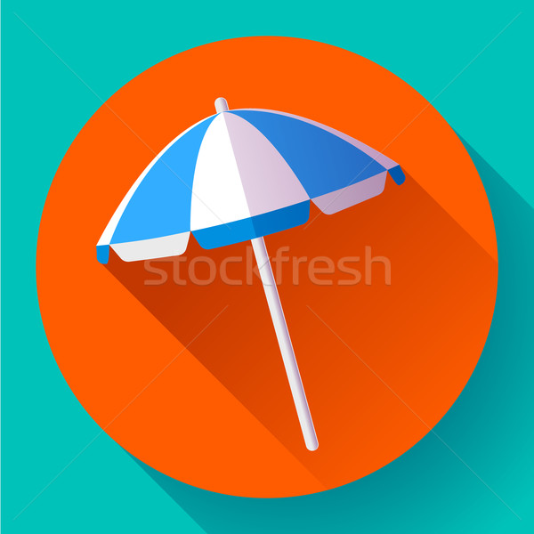 Parasol top icon vector ontwerp Stockfoto © MarySan