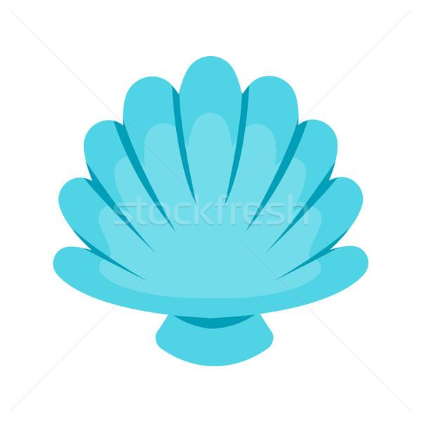 Concha vetor luz azul mar ícone projeto Foto stock © MarySan