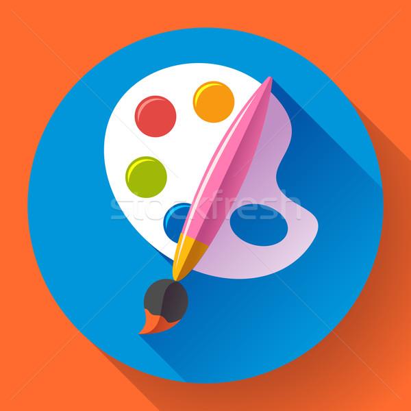Paint brush paleta ícone projeto estilo pintar Foto stock © MarySan