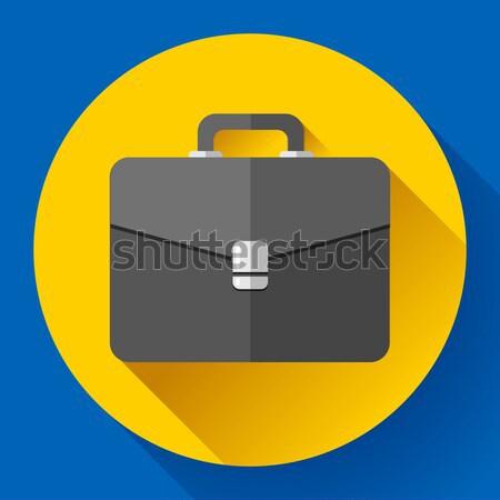 Dark Briefcase vector icon. Flat designed style Stock photo © MarySan