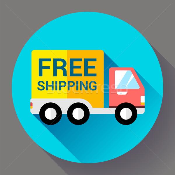 Autó szállítás ikon gyors ingyenes szállítás terv Stock fotó © MarySan