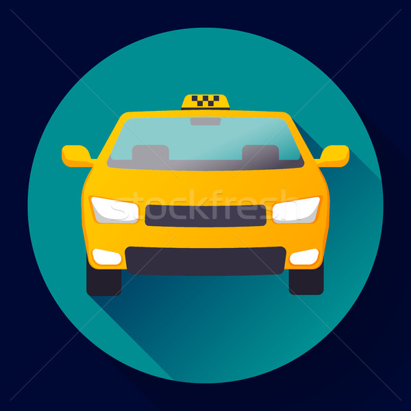 Flat Taxi car icon vector illustration flat design Stock photo © MarySan