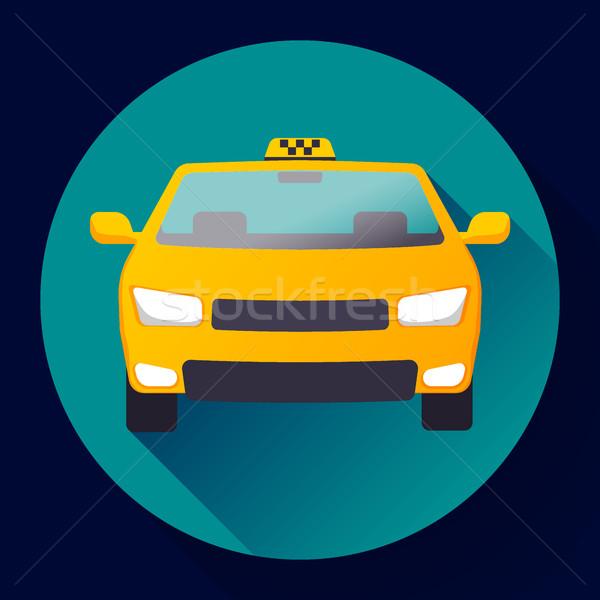 Taksi araba ikon dizayn karikatür arka plan Stok fotoğraf © MarySan