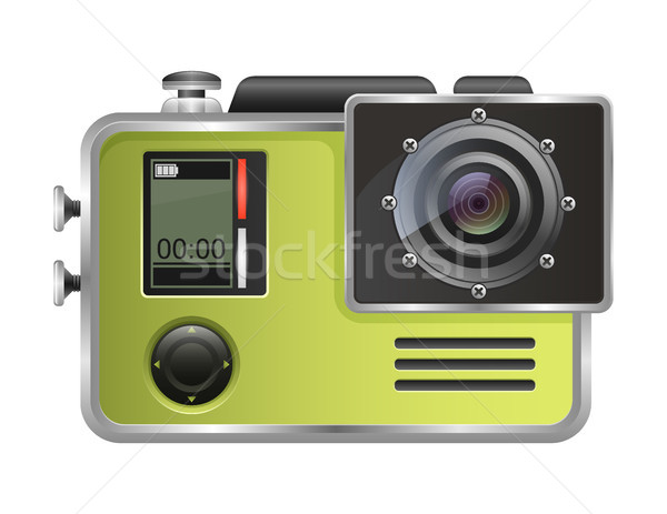 Vector camera Action Cam isolated on white background. Stock photo © MarySan
