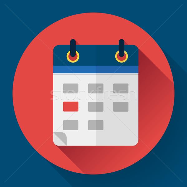 Calendar or mobile app organizer icon, vector illustration. Flat design style Stock photo © MarySan