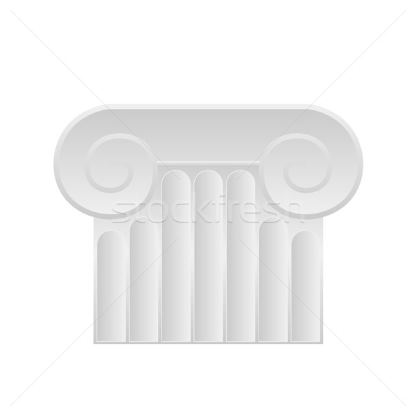 Roman column icon. Flat illustration of roman column vector icon on white Stock photo © MarySan