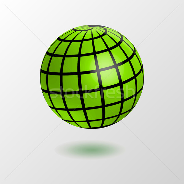 earth globe icon Stock photo © MarySan