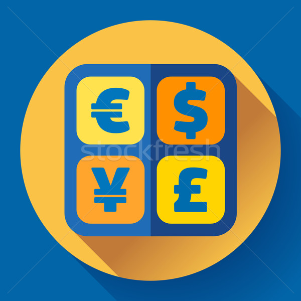 Currency exchange sign icon and converter symbol. Money label. Stock photo © MarySan