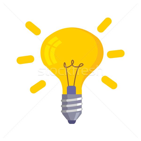 電球 アイコン 孤立した 白 電球 シンボル ストックフォト © MarySan