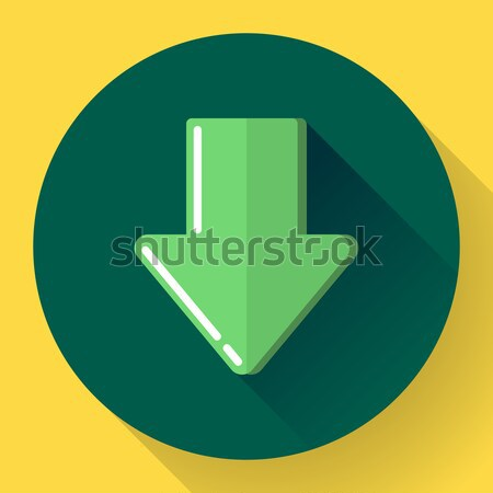 Download icon. Upload button. Load symbol. Flat design style. Vector Stock photo © MarySan