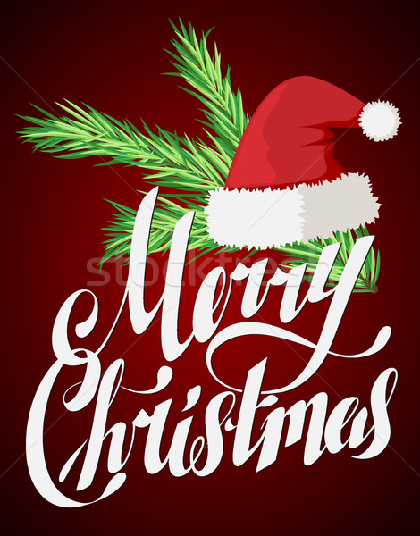Merry Christmas Hand Lettering Greeting Card Stock photo © MarySan