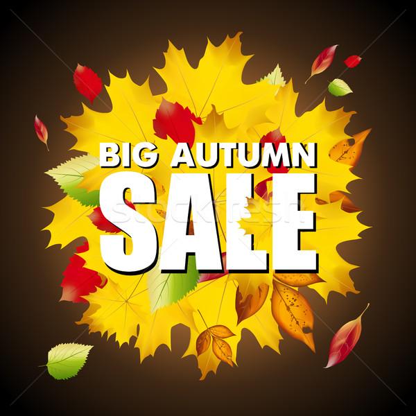 Sezonowy duży jesienią sprzedaży działalności kolorowy Zdjęcia stock © MarySan