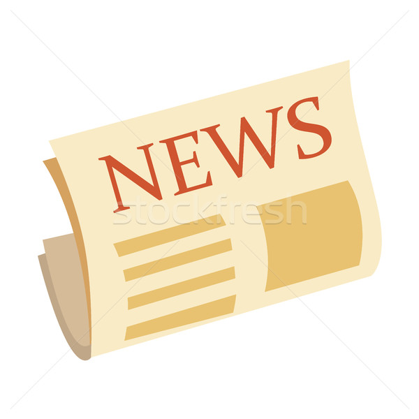 Wiadomości ikona gazety odizolowany biały nowoczesne Zdjęcia stock © MarySan