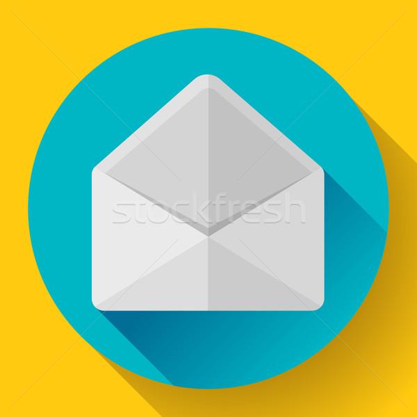 Nyitva boríték posta ikon új levél Stock fotó © MarySan