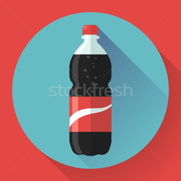 Bottle of cola soda. vector illustration. Flat designed style Stock photo © MarySan
