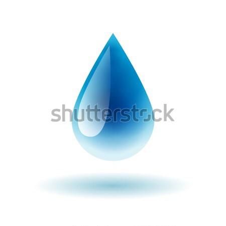 Azul brilhante gota de água sombra luz arte Foto stock © MarySan
