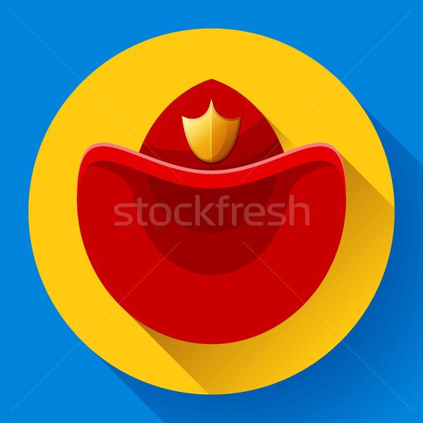 Strażacy hat symbol ikona wektora wideo Zdjęcia stock © MarySan