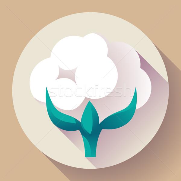 Flat Cotton icon vector Stock photo © MarySan