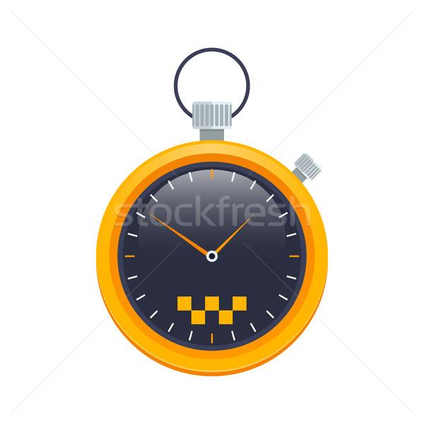Vector taxi cronógrafo icono coche mano Foto stock © MarySan