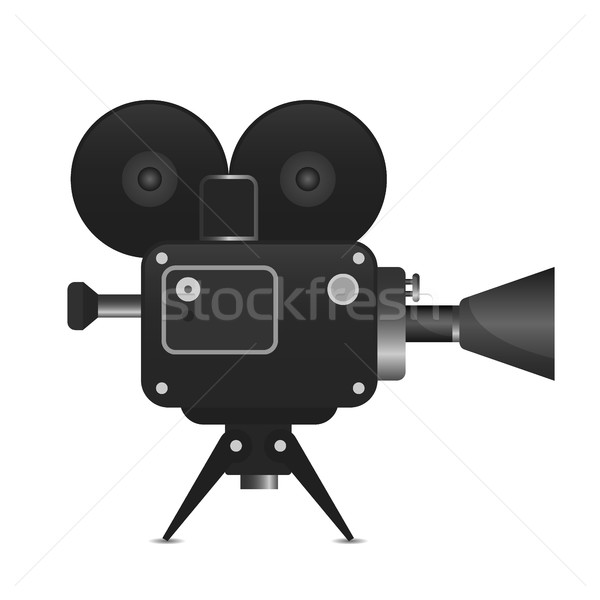 Retro movie projector with abstract light rays vector detailed illustration Analog device cinema mot Stock photo © MarySan