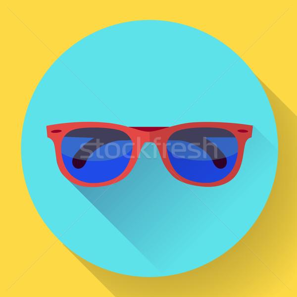 óculos de sol ícone longo sombra projeto estilo Foto stock © MarySan