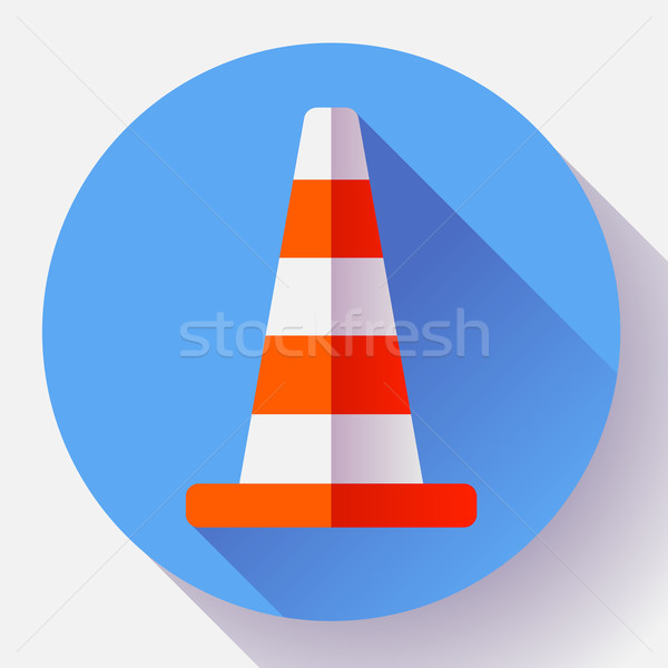 Verkehr Kegel Farbe Symbol Bau Symbol Stock foto © MarySan