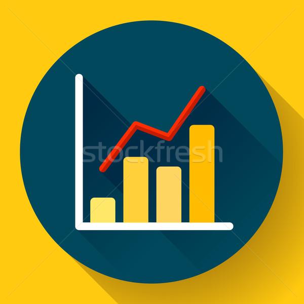 Działalności schemat wykres wektora ikona nowoczesne Zdjęcia stock © MarySan