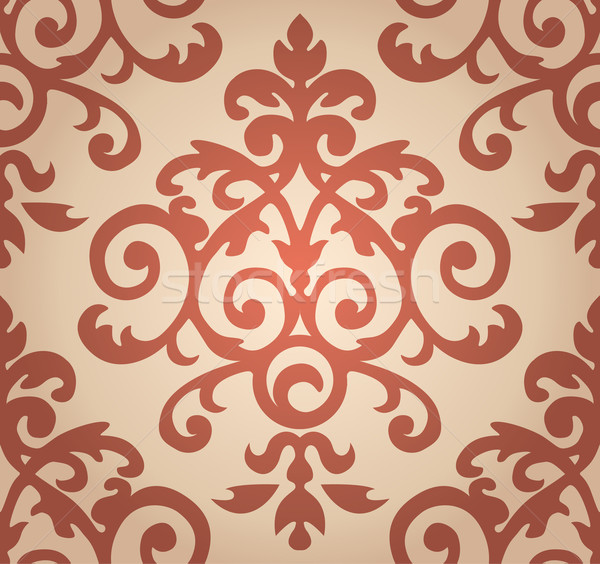 Damask  floral pattern. The wallpaper in Baroque style. Seamless background Stock photo © MarySan
